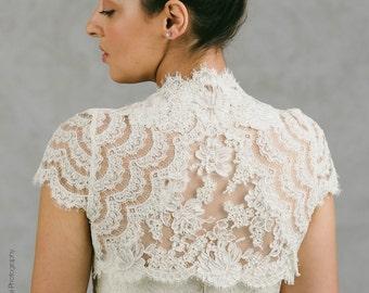 Plus Size Lace Bolero - Plus Size Cap Sleeve Bolero - Plus Size Lace Shrug - Claire