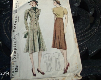 vintage simplicity womns tailored coat/skirt