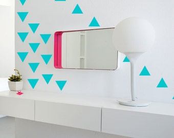 Triangle Decals Geometric Wall Decal Modern Baby Nursery Decor Wall Stickers Small Decals Triangle Stickers Geometric Vinyl Decal Baby Decor