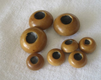 Set of 8 VINTAGE Chunky Vegetable Ivory BUTTONS