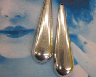 Sterling Silver Brass Large Long Tear Drops 2263SOX  x2