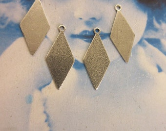 Sterling Silver Plated Brass  Drops 2123SOX x4