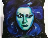 Haunted Mansion Madame Leota Large Soft Black Dot Back Pillow Pocket full of Posiez
