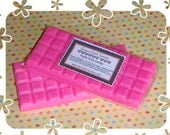 Fluffy Pink Candy Scented Soy Bean Candle Melts / Tarts Break Apart Candle Bar