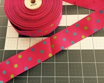 "Confetti Dots Ribbon 1.5""- Pick your length"