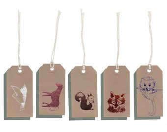 Woodland gift tags x 10
