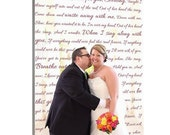 Personalized Gift Your Photo to Canvas Words Wedding Photo and Poems vows lyrics Anniversary 12x16