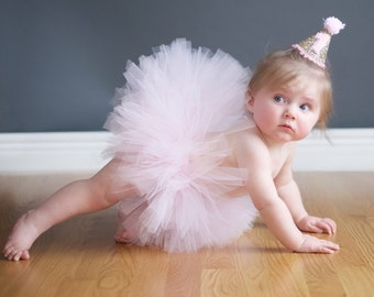 First Birthday Tutu, Cake Smash Tutu, First Birthday Outfit, SEWN Tutu, Toddler Tutu, Pink Tutu, Baby Girl Birthday Tutu, Princess Tutu Prop