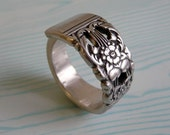 Silver Spoon Ring - Antique Coronation Pattern 1936