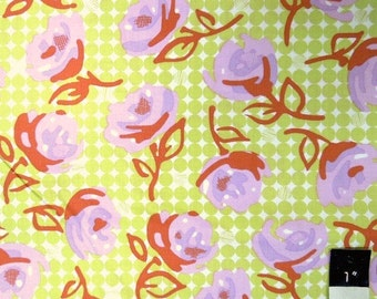 Erin McMorris EM22 Weekends Lilyrose Lime Cotton Fabric 1 Yard