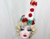 Clown Hat, Circus Costume, Orange, Red, Kids Costume, Cosplay Clown, Lolita, Burlesque, Halloween Costume, Batcakes Couture