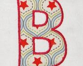 "Applique Monogram #032 3 sizes 3"" 4"" 5"" Machine Embroidery Designs Alphabet Font INSTANT DOWNLOAD"