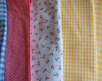 sweet ginghams and rose bud fabrics