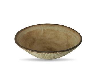 Ceramic serving Bowl, handmade bowl, stoneware, ceramic, pottery, Brown Leather Matte glaze, salad bowl, large pottery bowl, large soup bowl
