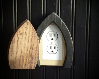 Fairy door that opens, outlet cover casing.