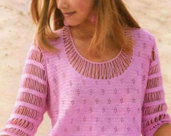 MADE TO ORDER  beautiful handmade crochet summer blouse / top