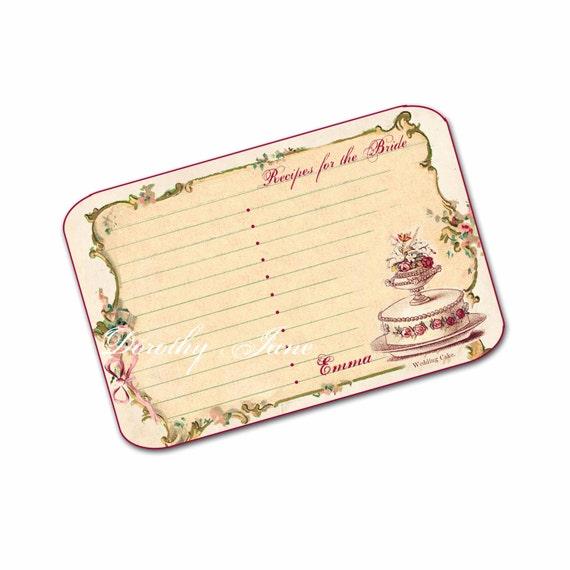 Wedding Gift Recipe Cards : ... Wedding Recipe Cards, Bridesmaid Party Gift, Wedding Cake Recipe Card