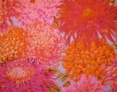 Kaffe Fassett JAPANESE CHRYSANTHEMUM Pink Orange Fuchsia Jp41 Quilt Fabric - by the Yard, Half Yard, or Fat Quarter FQ