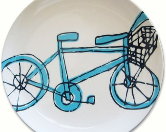 Bicycle Plate - more colors - BPA FREE - housewarming gift - bicycle enthusiast - home goods - plate - cycle - blue - purple - melamine -