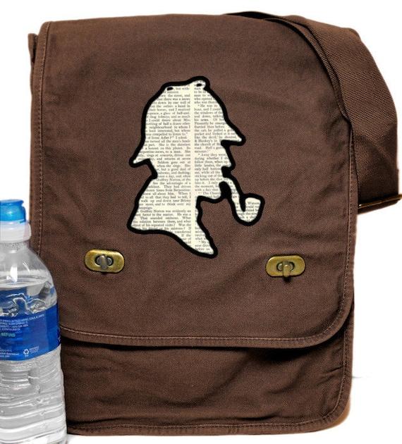 Classic Sherlock Holmes Print Messenger Bag
