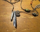 Reserved for Gay  Urban Gypsy Long Talisman Artifact Necklace