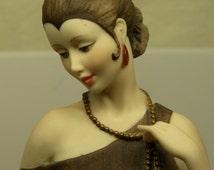 Giuseppe Armani Florence DANIELLE Art Deco Flapper FIGURINE with Siamese Cat No. 0436C Mint - il_214x170.673868600_thg9