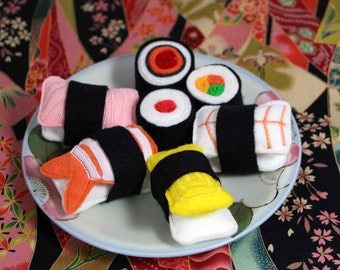 Felt Food Sushi 7 Piece Set Felt Play Food Felt Sushi
