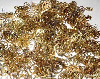 1000 GEARS ONLY 1/8-1/4 Inch Sm-Med Watch STEAMPUNK Wheels Cogs Parts Pieces