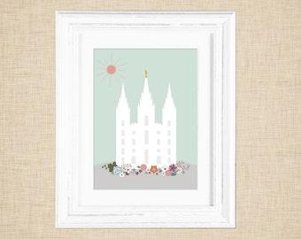 Printable Salt Lake City Temple Wall Art