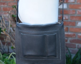 Black Leather Ultility Bag Made to Order