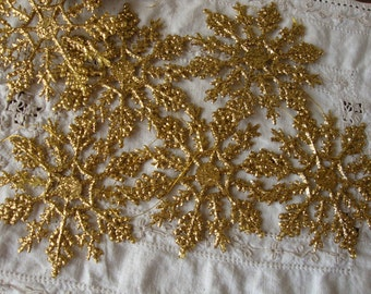 Glitter snowflakes gold glitter ornaments set of 10 Christmas craft supplies white snowflakes DIY Christmas crafting