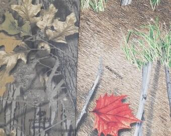 WOW! camouflage camo 100% cotton twill fabrics Mossy Oak Break Up Camoworks wide
