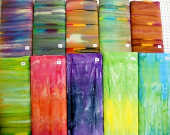 COLOR ESSENTIALS & CURVES batik 100% cotton fabric flavor of India great fillers