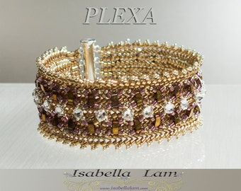 PLEXA Swarovski Rose Montee and Half Tila Bracelet tutorial Pdf for personal use only