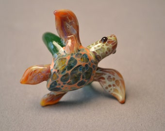 Hawksbill Natural colored Sea Turtle Ring
