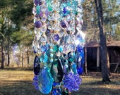 Peacock Crystal Wind Chime Bohemian Chic
