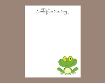 Frog notepad Personalized Notepad, Teacher gift, stocking stuffer