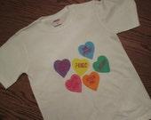 Conversation Heart Valentine Creeper or T shirt