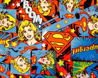 Girl Power Super Girl Fabric In stock and ready to be shipped