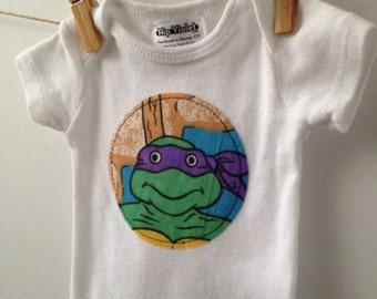 Teenage Mutant Ninja Turtles Onesie - Vintage TMNT Bodysuit - TMNT Baby Gift - Teenage Mutant Ninja Turtles Baby - Newborn, 3m, 6m, 9m, 12m