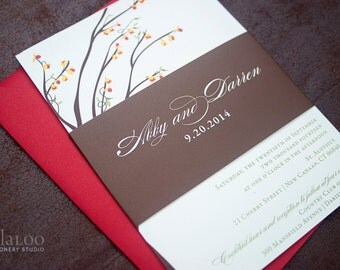 "Bittersweet Branches Wedding Invitation Sample - ""Amherst"""