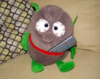 Vintage Couch Potato TV Remote Control Holder