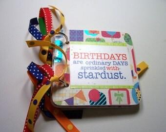 Birthday Giftcard Holder, Birthday, Giftcard Holder, Giftcard, Mini Giftcard Holder, Chipboard Giftcard Holder