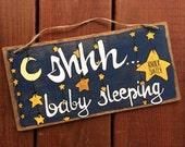 Baby Sleeping Sign - twinkle twinkle little star design