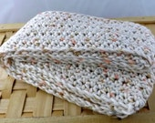 Peach Cobbler multicolor 100% cotton kid size crocheted scarf