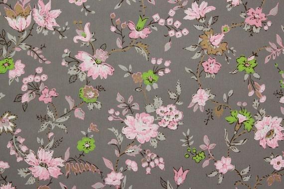 vintage des ann es 1940 de papier peint fleurs roses et roses. Black Bedroom Furniture Sets. Home Design Ideas