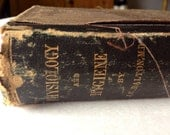 antique  book physiology and hygiene c. 1880