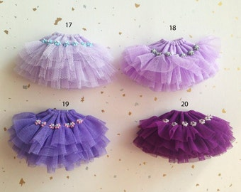 Purple series layered tulle skirt for Blythe Doll,blythe tutu dress