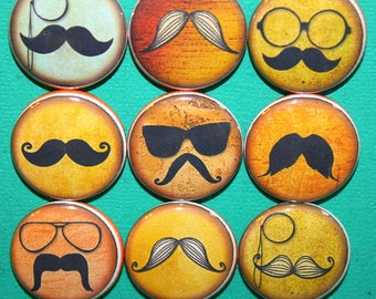 Mustache Magnets one inch