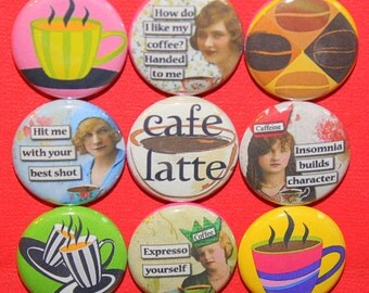 Coffee Time Magnets one inch